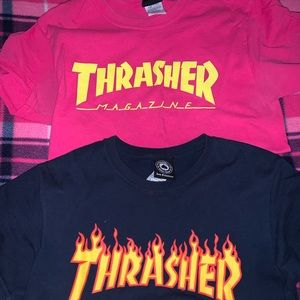 2 thrasher shirts